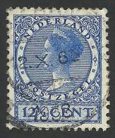 Netherlands, 12 1/2 C. 1928, Sc # 180, Mi # 216E, Used - 1891-1948 (Wilhelmine)