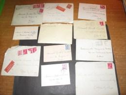 VOTTEM - LIEGE - FAMILLE VAN TOUR / BURTIN - 12 correspondances ann�es 40/45
