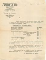 PARIX XIII ET SEDAN ARDENNES ETS J. DEPAMBOUR ET LEFORT CHARBONNAGES 1932 - France