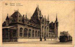 Veurne 6 CPA   Station Stoomtram Tram à Vapeur        Processie        Grote Markt         Toren V Stadhuis1903 - Veurne