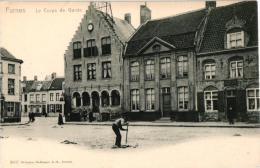 Veurne  4 CPA     Hôtel De La Noble Rose '02       Station Stoomtram     Corps De Garde - Veurne