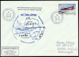 ANTARCTIC,ITALIA/TAAF Over, D´URVILLE,23.12.2013,TWIN-OTTER-Flight To CONCORDIA , Look Scan !! .22.10-36 - Spedizioni Antartiche
