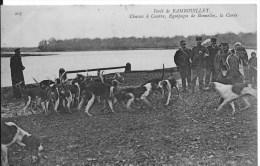 Forêt De RAMBOUILLET : Chasses à Courre, équipage De Bonnelles , La Curée - Belle CPA Postée En 1910 - Rambouillet
