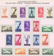 Italy: Africa Orientale Italiana  Sa Nr  1 - 20 MH/* 1938 - Afrique Orientale Italienne