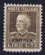 Italy: Eritrea Sa.nr. 137 MH/*  1928 - Erythrée