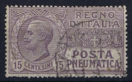 Italy: 1913 Posta Pneumatica Sa Nr 2 Used - 1900-44 Victor Emmanuel III