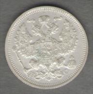 RUSSIA 20 KOPEKS 1915 AG SILVER - Russia