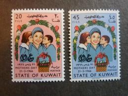 KOWEIT, ann�e 1966, YT n� 303 et 304 neufs, tr�s l�g�re trace charni�re