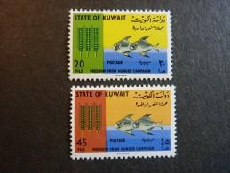 KOWEIT, ann�e 1966, YT n� 307 et 308 neufs, tr�s l�g�re trace charni�re