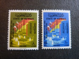 KOWEIT, ann�e 1966, YT n� 309 et 310 neufs, tr�s l�g�re trace charni�re