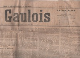 LE GAULOIS 31 01 1907 - JAURES EUROPE A DROITE - CESAR LOMBROSO - ELEPHANT SAÏD JARDIN DES PLANTES - SENAT - EGLISE - Journaux - Quotidiens