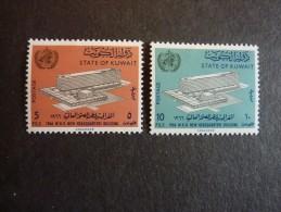 KOWEIT, ann�e 1966, YT n� 311 et 312 neufs, tr�s l�g�re trace charni�re