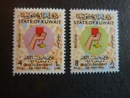 KOWEIT, ann�e 1966, YT n� 315 et 316 neufs, tr�s l�g�re trace charni�re