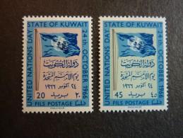 KOWEIT, ann�e 1966, YT n� 325 et 326 neufs, tr�s l�g�re trace charni�re