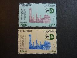 KOWEIT, ann�e 1967, YT n� 340 et 341 neufs, tr�s l�g�re trace charni�re