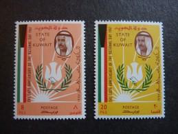 KOWEIT, ann�e 1967, YT n� 342 et 343 neufs, tr�s l�g�re trace charni�re