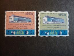 KOWEIT, ann�e 1967, YT n� 352 et 353 neufs, tr�s l�g�re trace charni�re