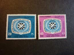 KOWEIT, ann�e 1967, YT n� 356 et 357 neufs, tr�s l�g�re trace charni�re