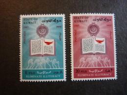 KOWEIT, ann�e 1967, YT n� 358 et 359 neufs, tr�s l�g�re trace charni�re