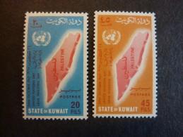 KOWEIT, ann�e 1967, YT n� 360 et 361 neufs, tr�s l�g�re trace charni�re