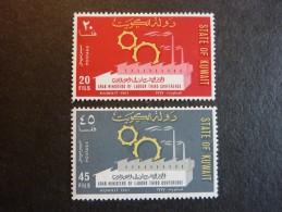 KOWEIT, ann�e 1967, YT n� 362 et 363 neufs, tr�s l�g�re trace charni�re