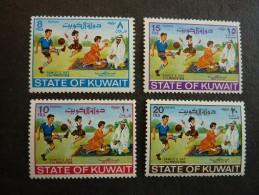 KOWEIT, ann�e 1968, YT n� 375 � 378 neufs, tr�s l�g�re trace charni�re
