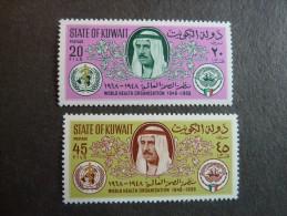 KOWEIT, ann�e 1968, YT n� 379 et 380 neufs, tr�s l�g�re trace charni�re