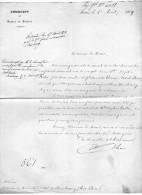 Lettre De Berne Pour Strasbourg - Ambassade De France En Suisse - Vieux Papiers