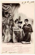 Cpa Fantaisies - Madame Thérésa, Somnambule Extra-lucide (cartes à Jouer) ( Bergeret ) - Fantaisies