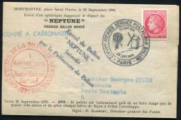"""FRANCE - N° 676 / FAC-SIMILÉ GAZETTE DES ABSENT """" COMMon PREMIER SERVICE POSTAL PAR BALLON 23/9/1870 - 23/9/1946 """" - SUP - Montgolfières"""