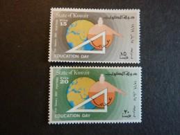 KOWEIT, ann�e 1969, YT n� 422A et 422B neufs, tr�s l�g�re trace charni�re