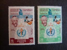 KOWEIT, ann�e 1969, YT n� 434 et 435 neufs, tr�s l�g�re trace charni�re