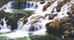 waterfall   , 2012  prepaid card, postal stationery