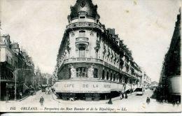 N°40378 -cpa Orléans -café De La Rotonde- - Cafés