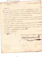 Lettre De Cadix Pour Amiens - 1773 + Griffe Rouge Andalucia Alta - Sin Clasificación