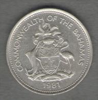 BAHAMAS 25 CENTS 1981 - Bahamas