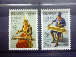 THEMA EUROPA IJSLAND 585/586 Xx ( YVERT ) COTE : 5 EURO ( C ) - 1985