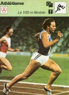 SPORTS @@  ATHLETISME  @@ 100 M FEMININ  @@   RENATE STECHER - Athlétisme