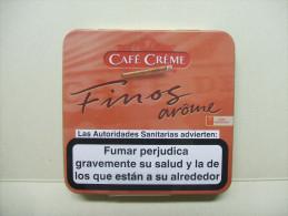 BOITE Métal Vide CAFE CREME FINOS Arôme (20 Cigares) - Contenitore Di Sigari