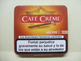 BOITE Métal Vide CAFE CREME Arôme (20 Cigares) - Contenitore Di Sigari