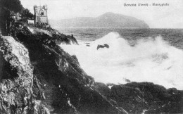 CARTOLINA D'EPOCA DI GENOVA NERVI MAREGGIATA  VIAGGIATA NEL 1931 - Genova (Genoa)