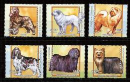(cl 23 - P22) Centrafrique ** N° 1769 à 1774 - Chiens - - Centrafricaine (République)