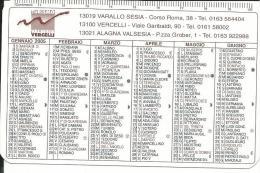 CAL081 - CALENDARIETTO 2005 - TURISMO VALSESIA VERCELLI - Calendari