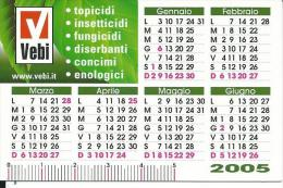 CAL086 - CALENDARIETTO 2005 - VEBI - Calendari