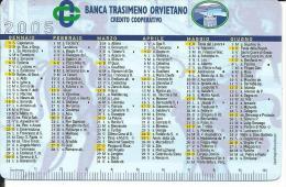 CAL087 - CALENDARIETTO 2005 - BANCA TRASIMENO ORVIETANO - Calendari