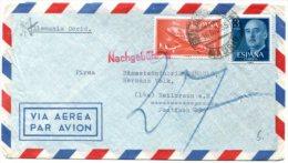 Vr2 Espagne  Lettre Taxée Pour L'Allemagne - 1951-60 Lettres