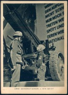 """Sw.-""""Wehrmacht"""" Propagandakarte """"HJ U.Unteroffizier - Zwei Generationen"""" Von Deutsches Reich, Gelaufen - Allemagne"""