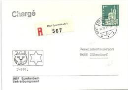 """R Brief  """"Betreibungsamt Spreitenbach"""" - Dübendorf                1973 - Suisse"""