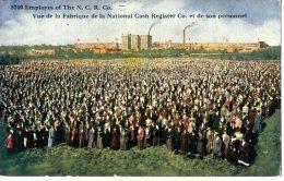 ETATS UNIS  -  DULUTH  -  MINNESOTA  -   EMPLOYES OF THE NCR CO  -  VUE DE LA FABRIQUE DE LA NATIONAL CASH REGISTER - Duluth
