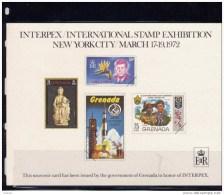 Grenada, 1972, Souvenir Card Issued In Honor Of INTERPEX, NEW YORK CITY MARCH 1972 - Grenade (1974-...)